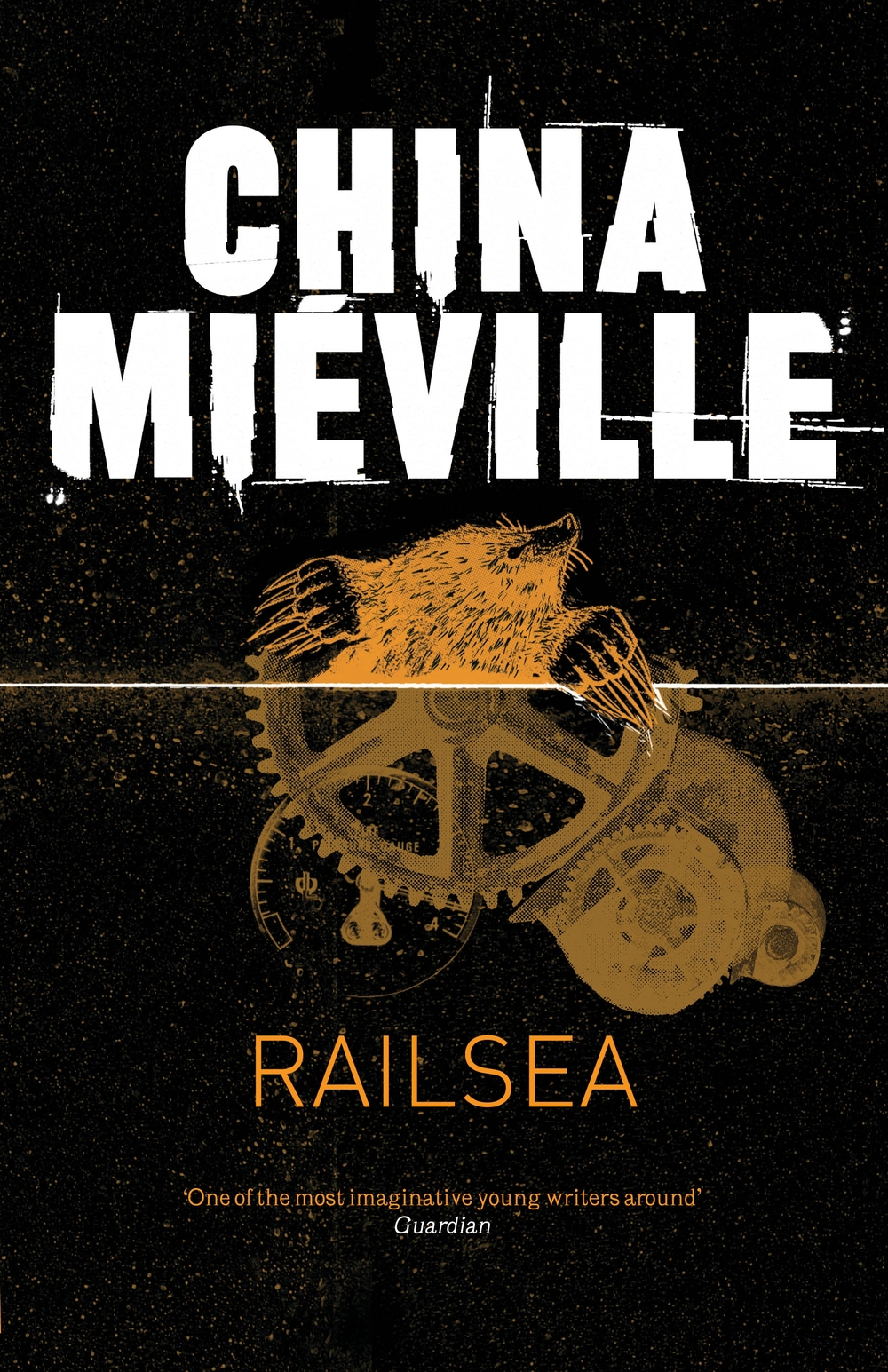 Railsea: cover art by Crushed.co.uk; in-house designer Neil Lang