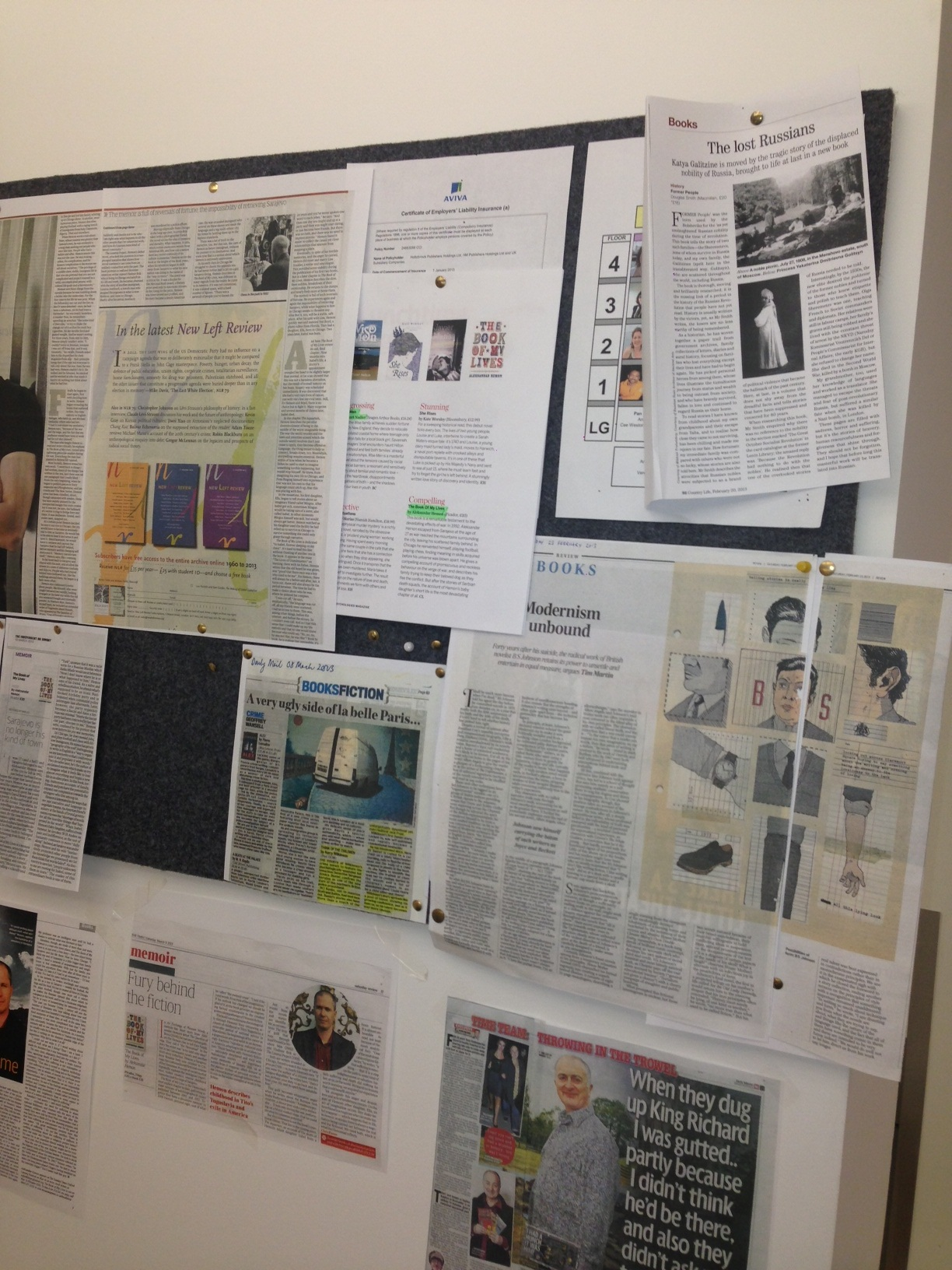 The press office - our cuttings board