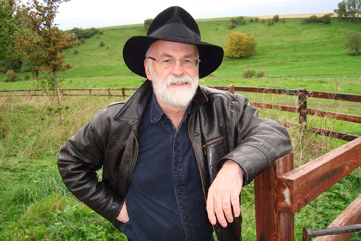 Terry Pratchett (c) Rob Wilkins web dpi