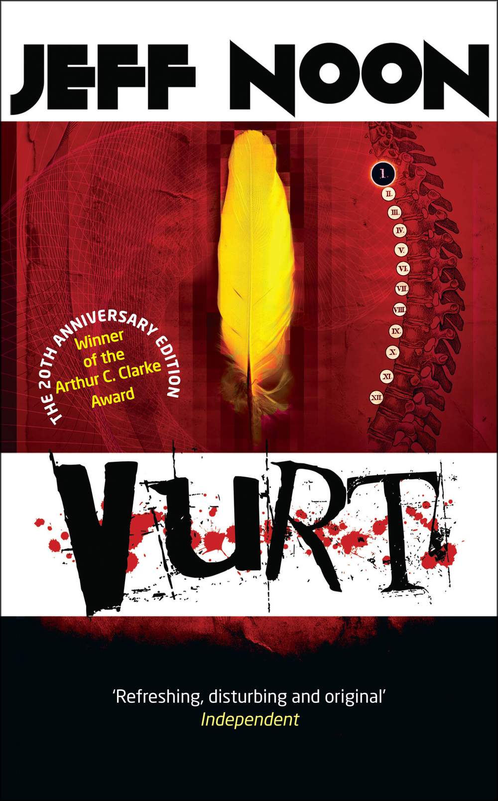 Vurt by Jeff Noon, with cover design by Curtis McFee