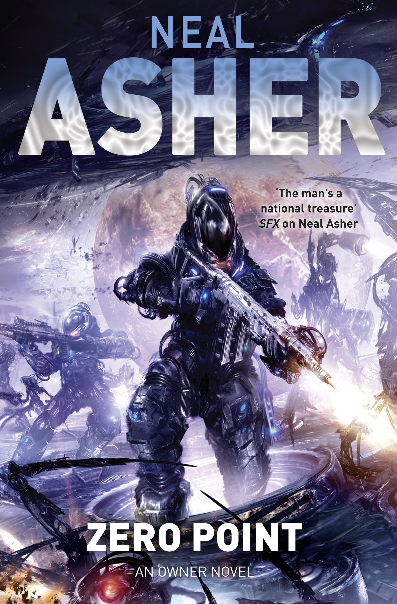 Zero Point by Neal Asher (Book 2 in the Owner trilogy - design by Neil Lang, illustration by Jon Sullivan)