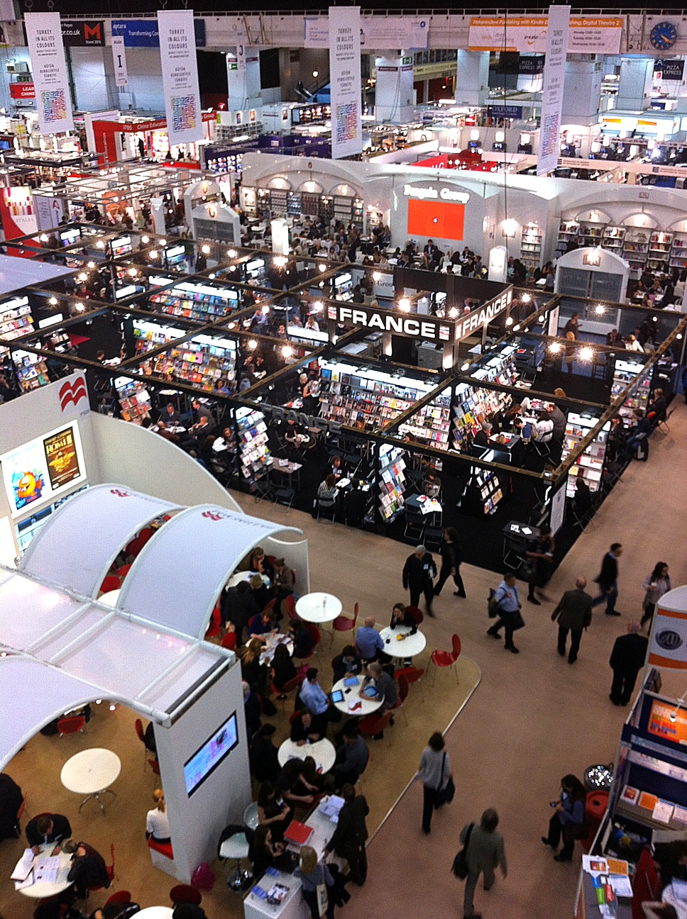 London Book Fair - ground floor - Pan Macmillan stand bottom left