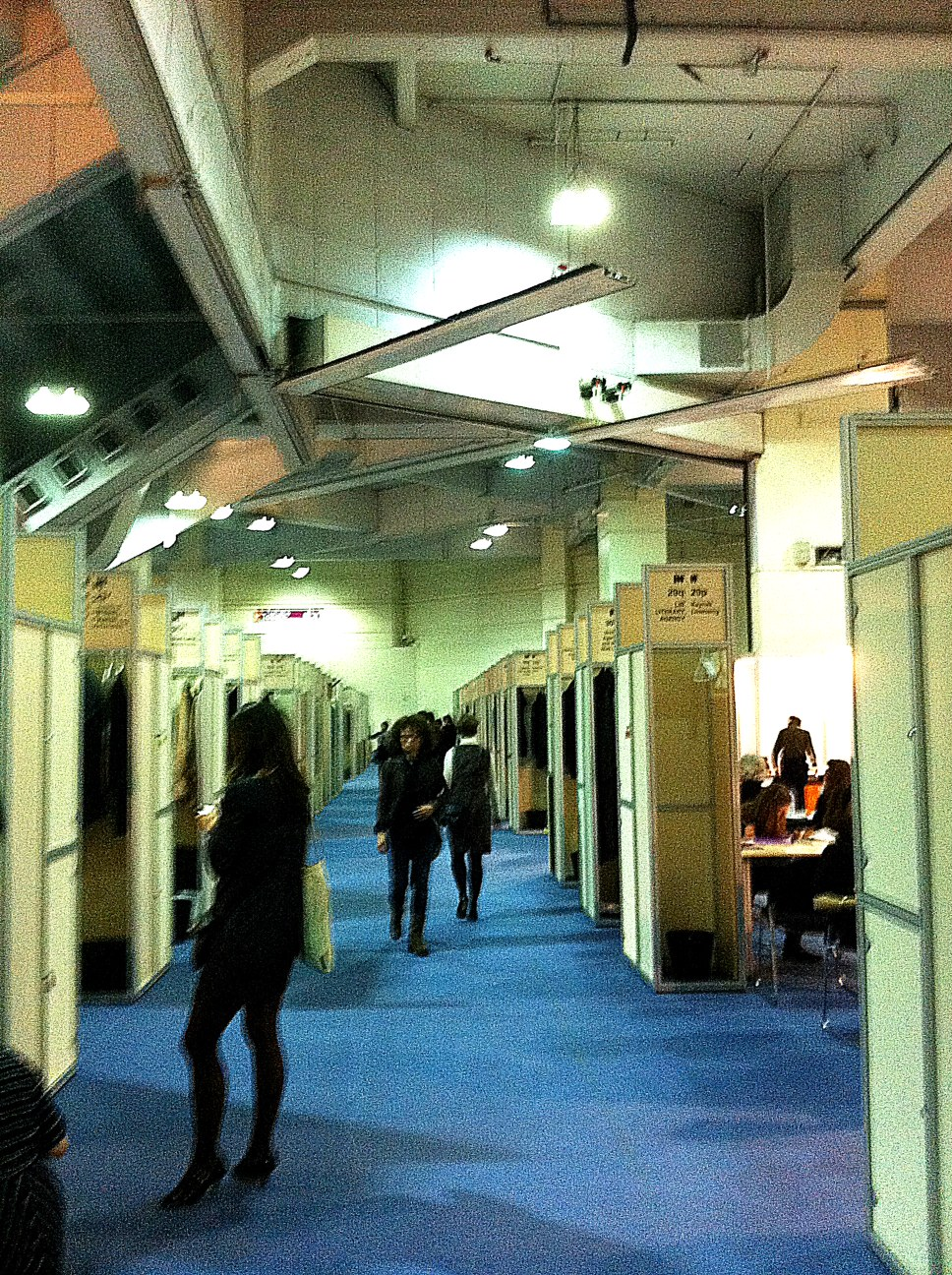London Book Fair - upstairs in the Rights Centre - where the agents hire tables