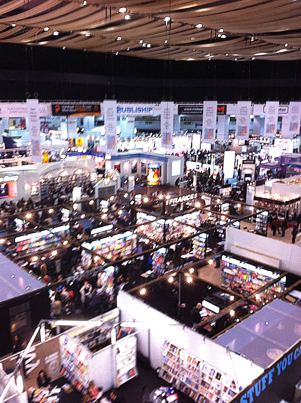 London Book Fair - ground floor - mostly publisher stands