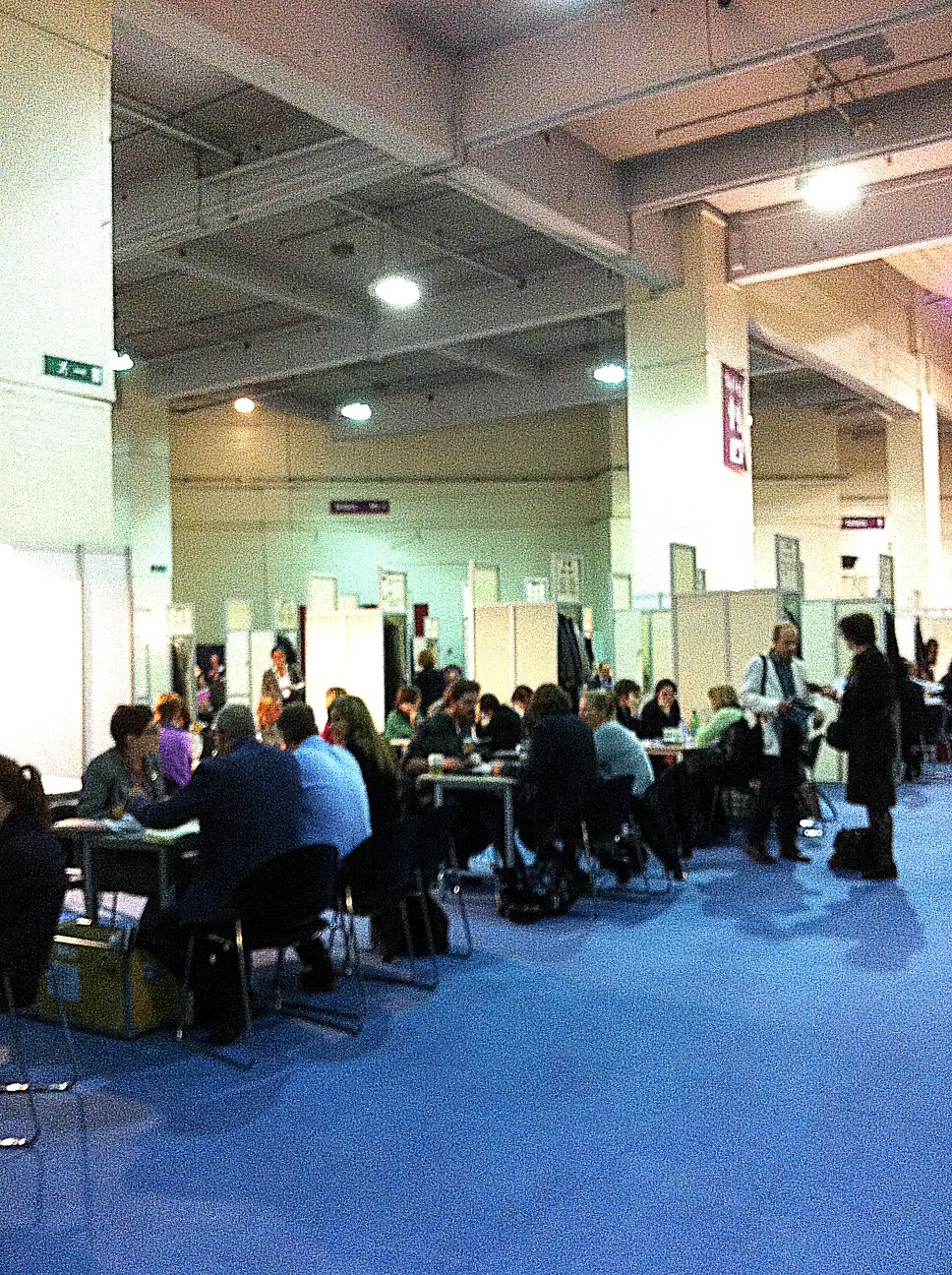 London Book Fair - upstairs in the Rights Centre - agents meet publishers at identical armies of tables