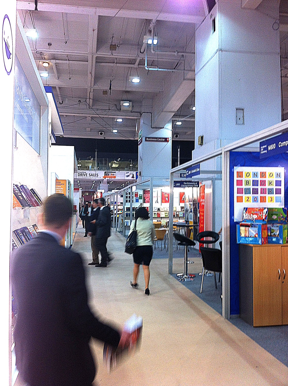 London Book Fair - ground floor - publisher stands