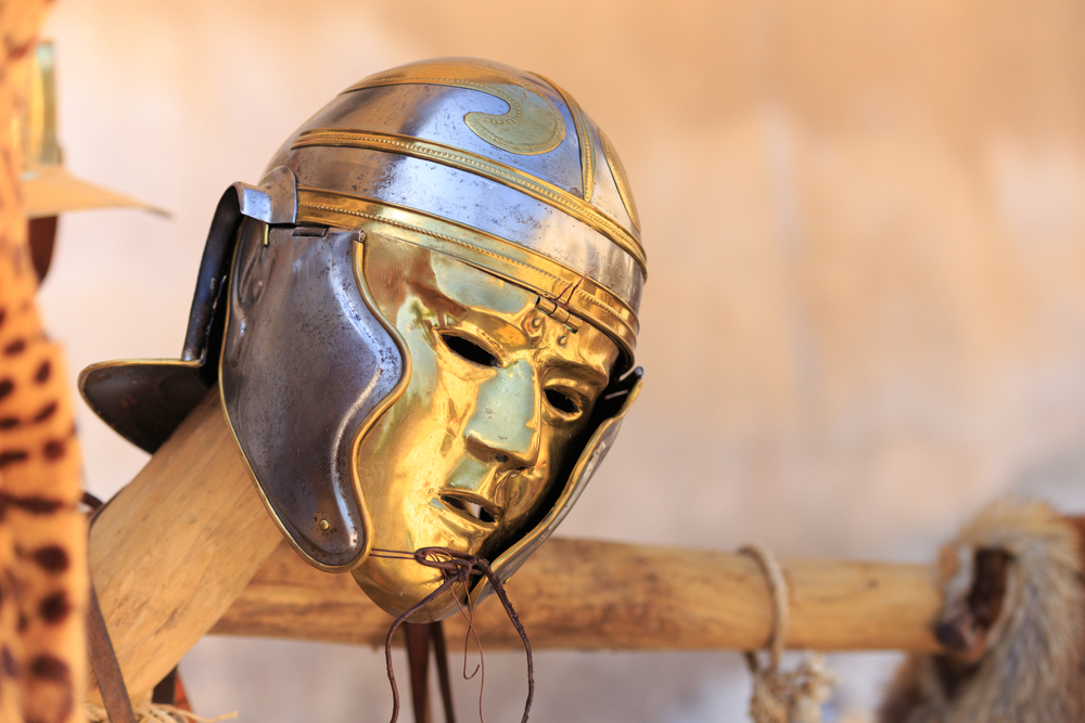 Roman Battle mask - copyright Shutterstock