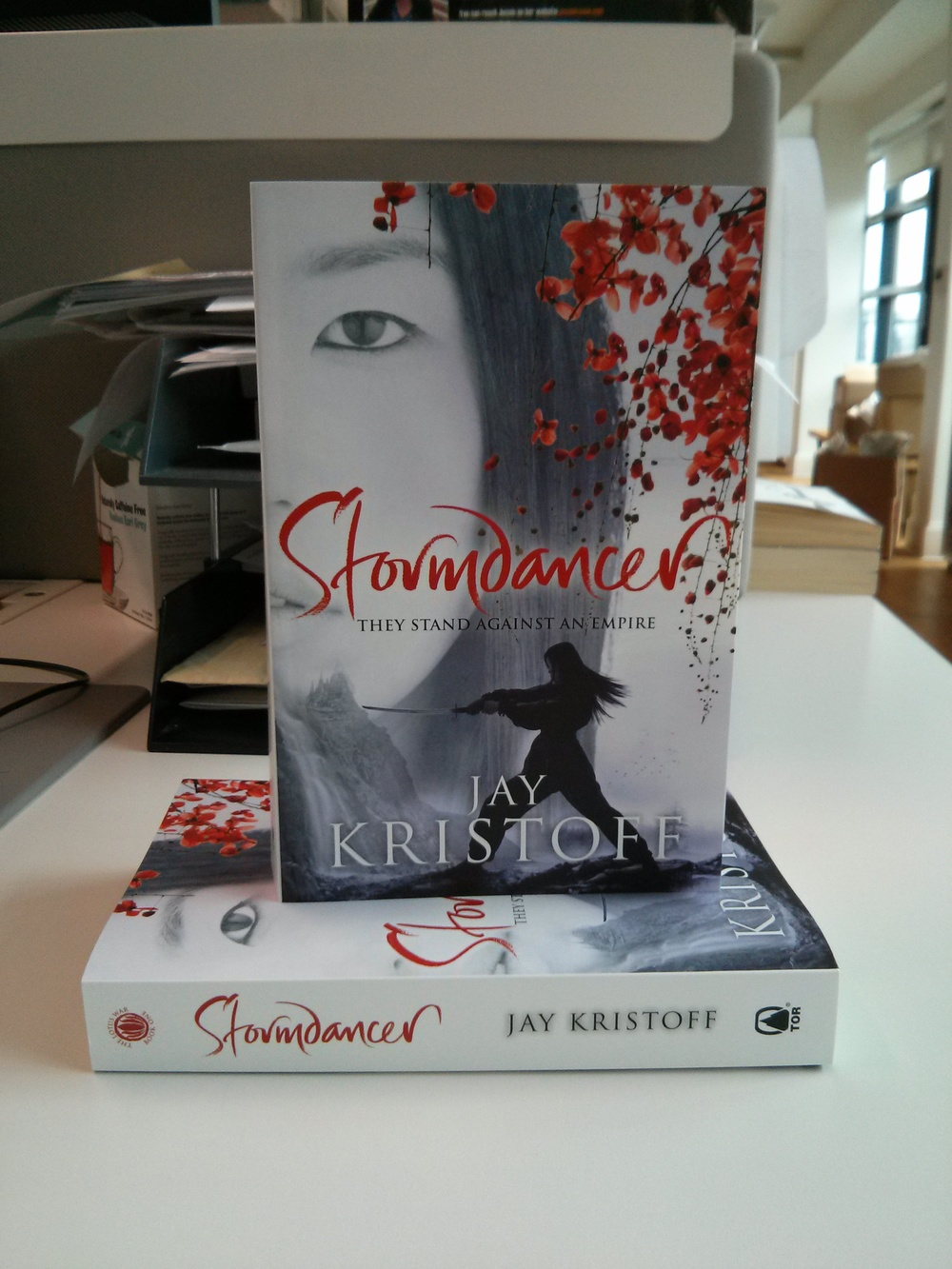 The paperback of Stormdancer - fresh from the printers!