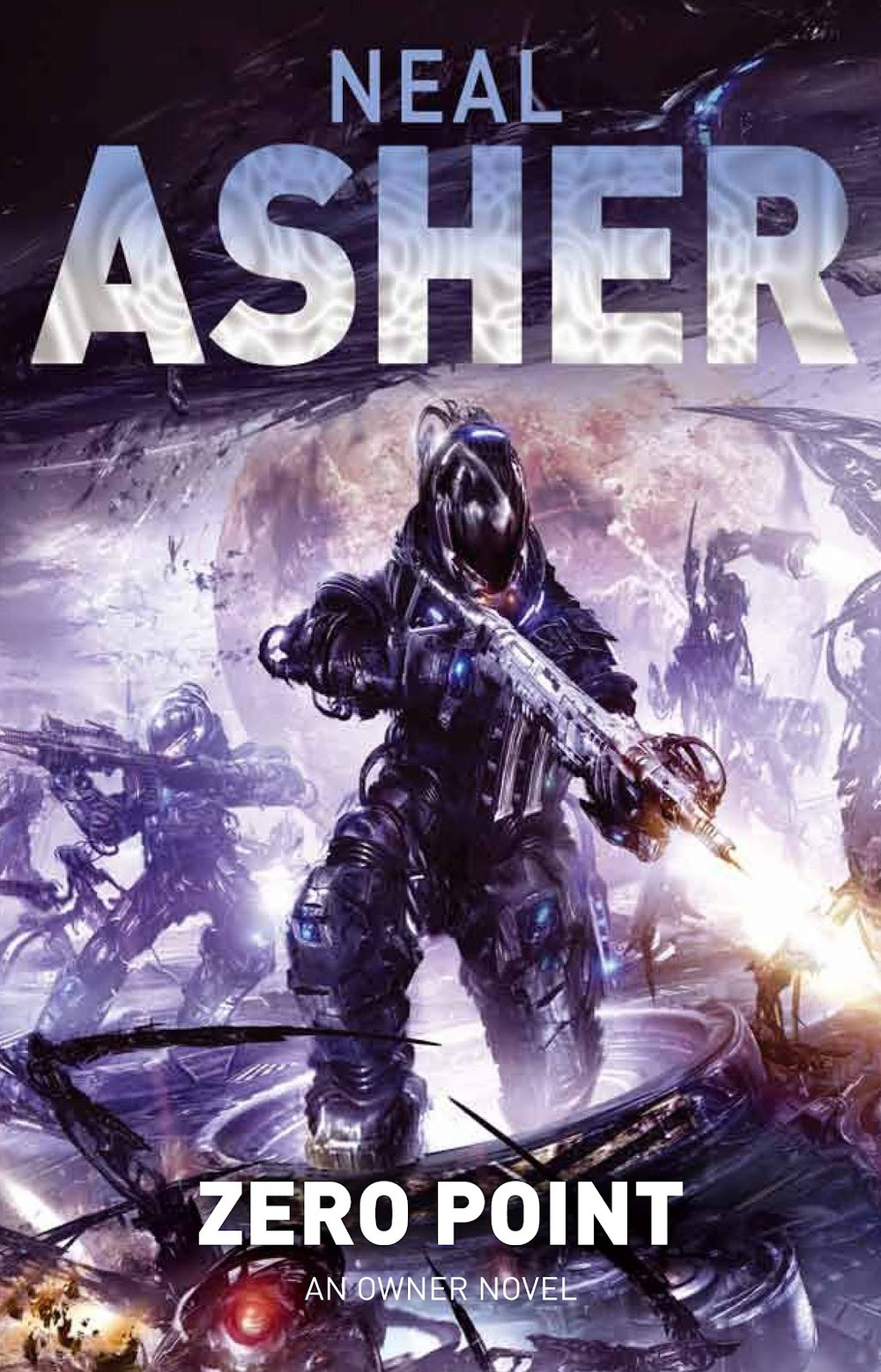 Neal Asher's Zero Point with worked font