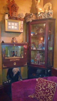 One of the many cabinets of curiosities