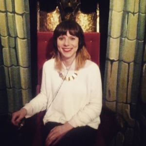 Senior Editor Catherine Richards in the Chair of Whispers