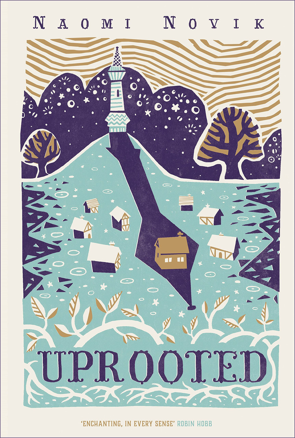 Uprooted - the hardback cover