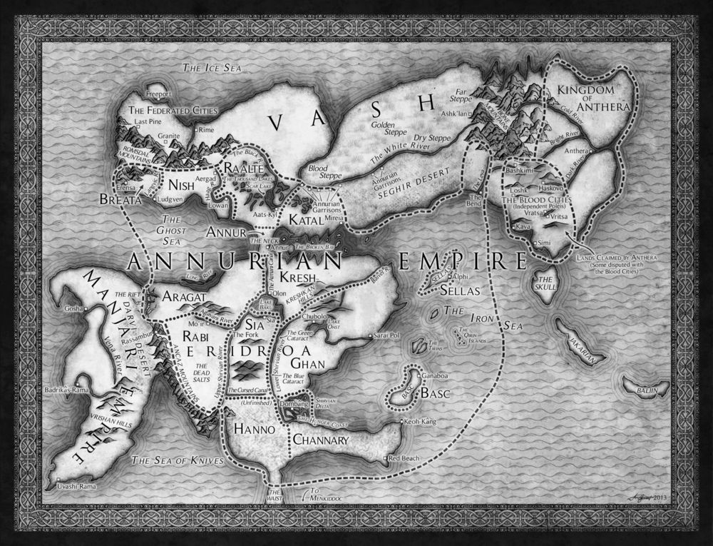 The map from Brian's new novel, The Last Mortal Bonds