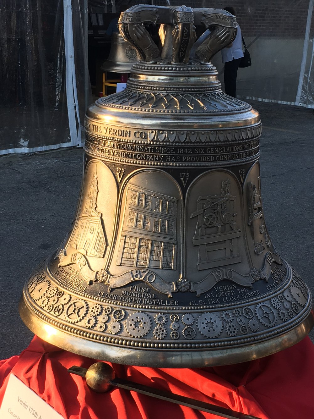 The impressive 175th anniversary bell designed and cast by Verdin.