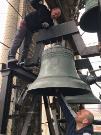 Restoring the largest of the Cragin Peal Bells
