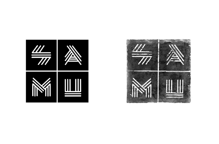 logo; logo with stamp treatment