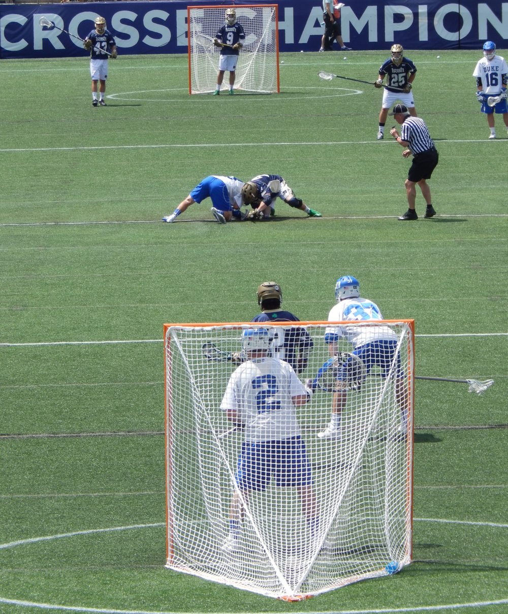 Face-off for the NCAA Championship