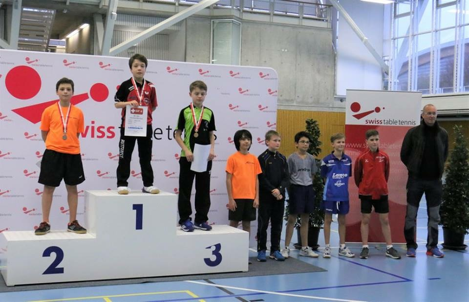 Podest U13 (Foto: Swiss Table Tennis)