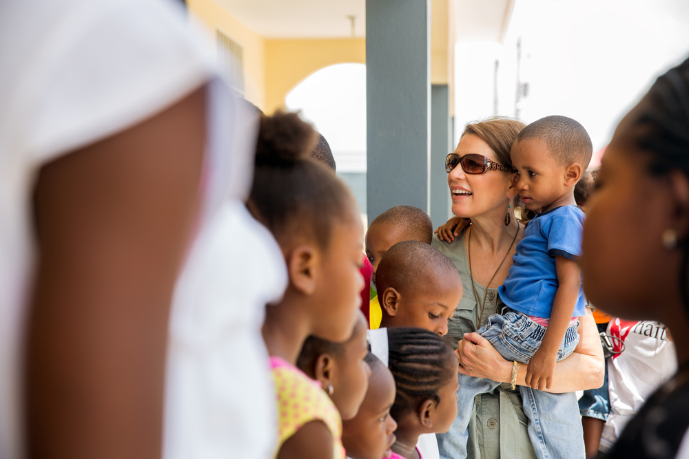 Haiti  / Representative Michele Bachmann (R-MN) visits orphanages in Haiti during a 20/20 Vision trip with the Congressional Coalition on Adoption.