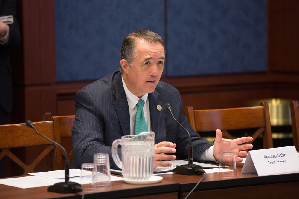 Washington, DC  /Representative Trent Franks (R-AZ) meets with foster and adoptive parents at an event with the Congressional Coalition on Adoption Institute.