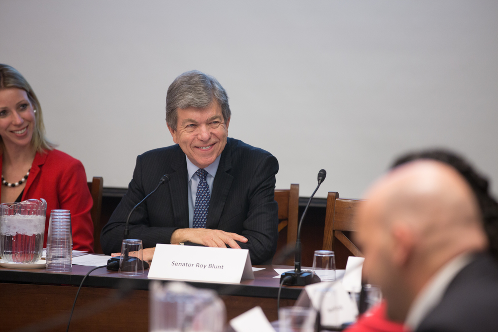 Washington, DC  /Representative Roy Blunt (R-Mo.) meets with adoptive and foster parents at an event with the Congressional Coalition on Adoption Institute.