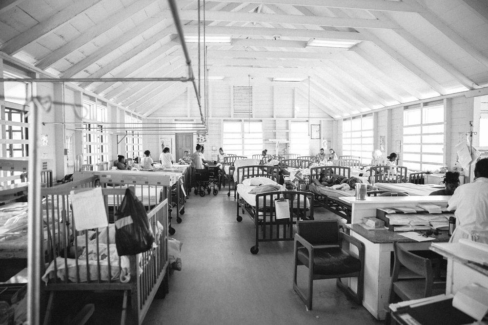 The open air Maternity Ward at Georgetown Public Hospital in Guyana, South America.