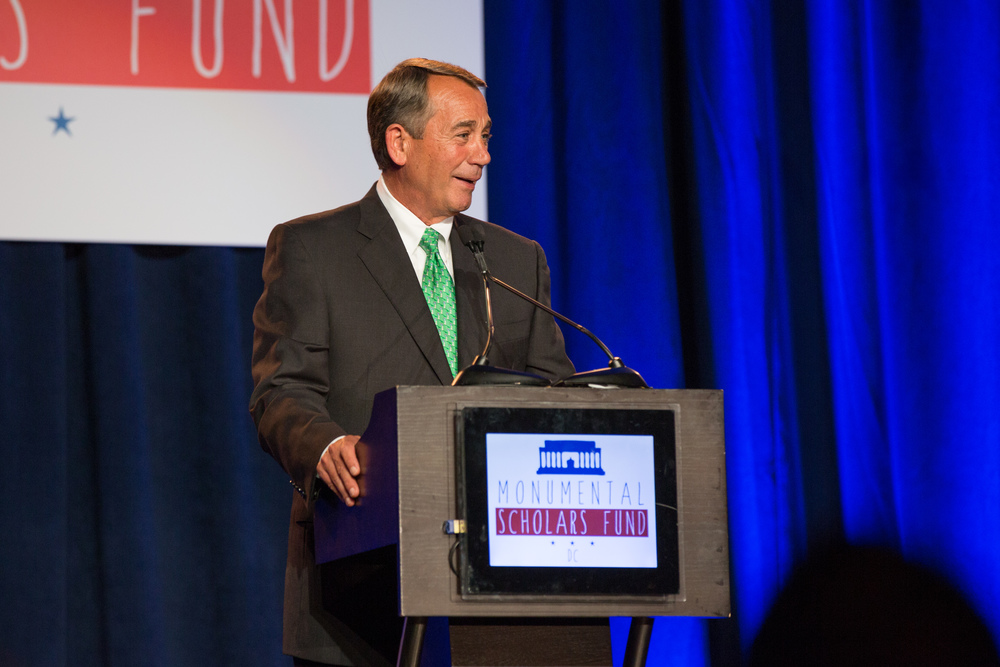 Washington, DC  /Speaker John Boehner speaks at a dinner to raise funds to provide tuition assistance to students attending the Consortium of Catholic Academy Schools.