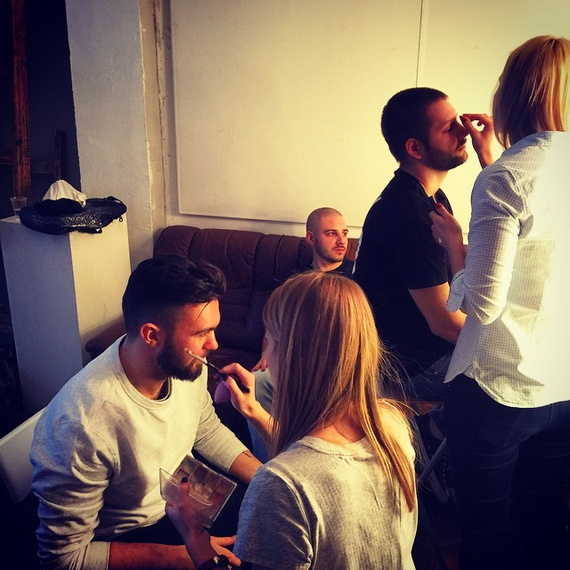 Getting our swag on for #interviewmagazine #photoplay #roundme #backstage
