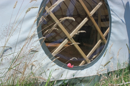 Beautiful circular yurt window