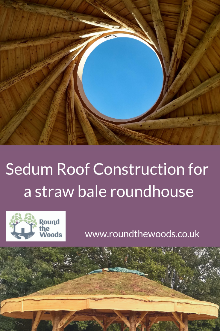 sedum roof construction blog for roundhouse