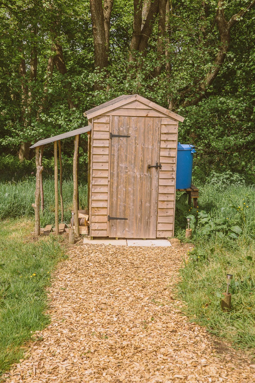 Bog cabin private compost toilet for each yurt
