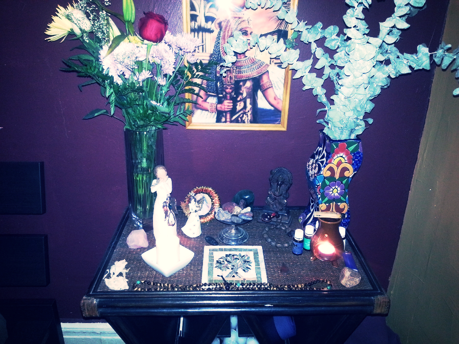 My bedroom altar where conception took place  :)