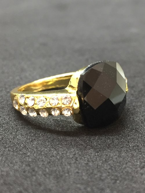 30d94088f Black Stone Gold Ring (Size 7 ONLY) — Elle's Jewelry Box