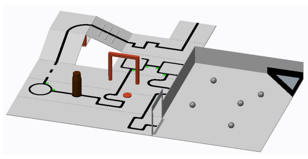 Depiction of a Rescue Line environment.