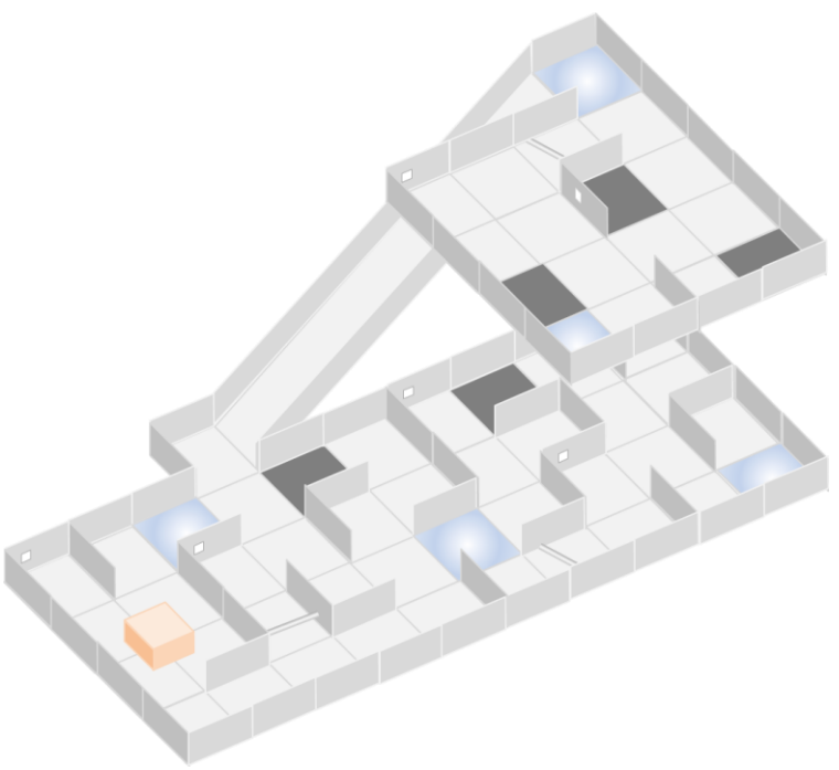 Depiction of a Rescue Maze environment.