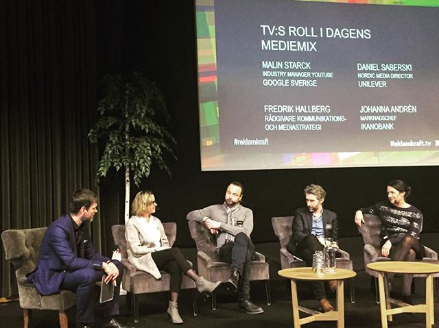 The future mediamix: tv vs digital or both... panel discussion w/ Google, Unilever, Ikanobank & Comm. strategist Fredric Hallberg #reklamkraft #resume #commersial @lovisaroupe @mariamasy