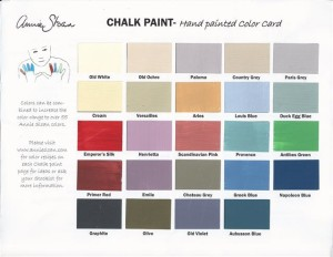 Annie Sloan paint chart to web site