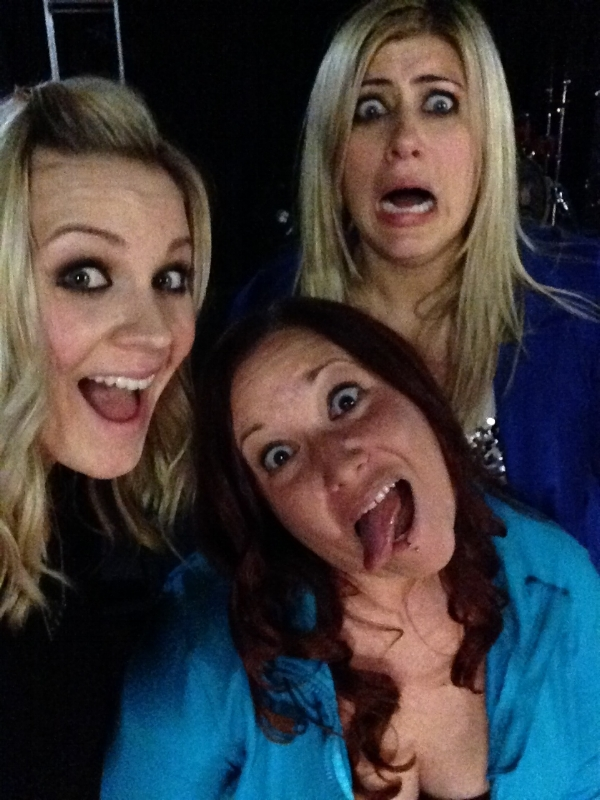 "Apparently Kate did not get the ""silly face"" memo. Ha!"