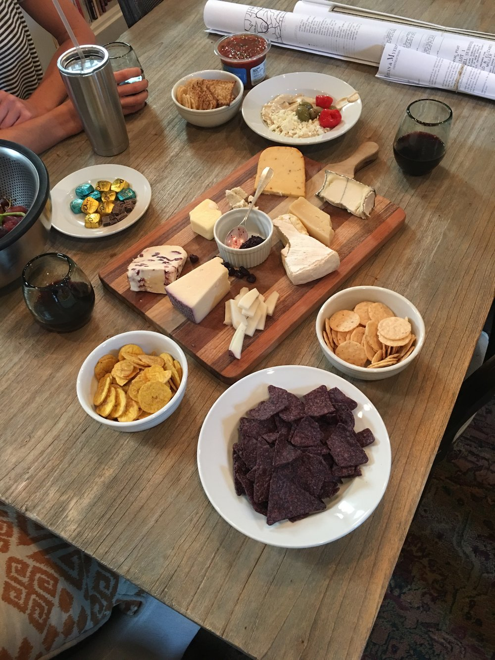 Casual. We'll call this one the  Saturday Afternoon Cheese Plate.