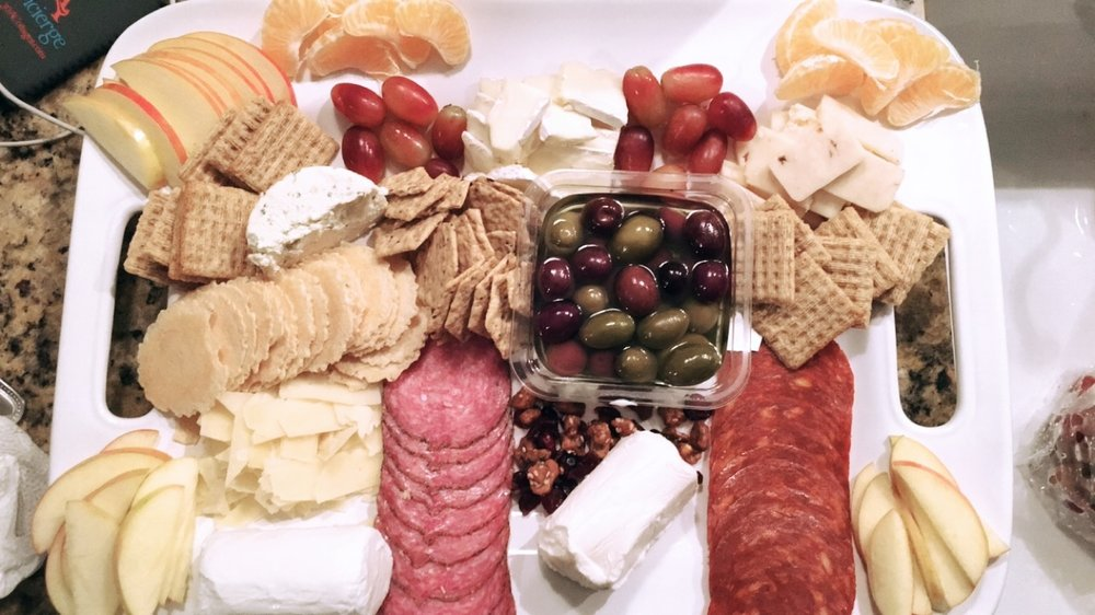 Last, but not least, we made this one in Florida for Kate's birthday. We'll call this one the  Nothing Can Beach This Cheese Plate.