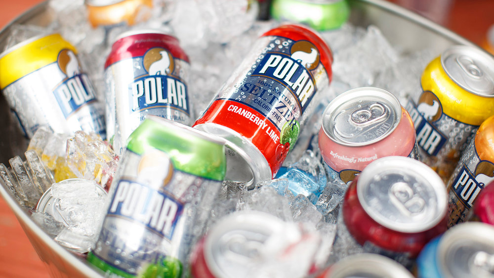 We pretty much quit soda this year and seltzer saved our lives. There are lots of good brands of seltzer...but Polar is delicious and they also have super cute cans. Beauty counts. :)