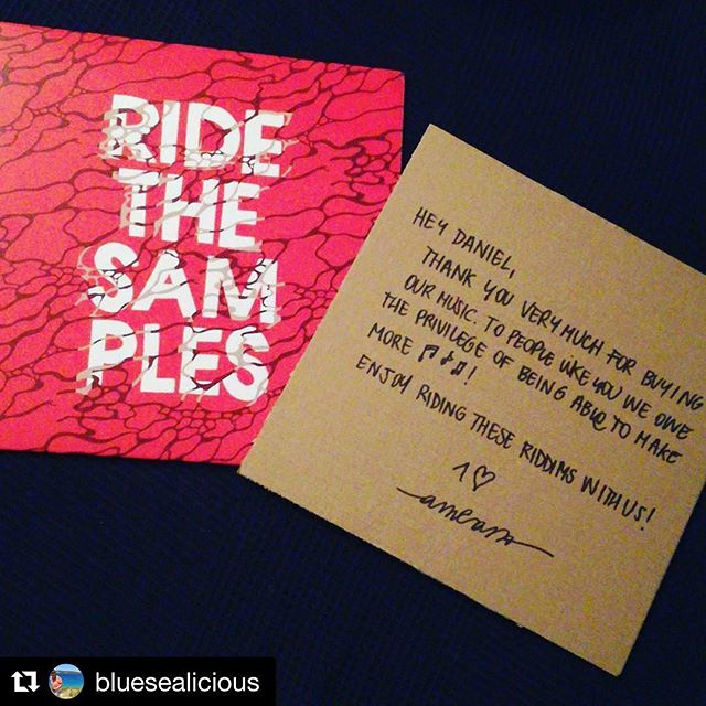 #Repost @bluesealicious (@get_repost) ・・・ New #vinyl in da house 🎶 #ridethesamples  THX for the nice massage!