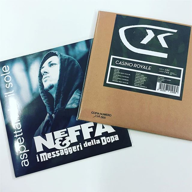 Today's #dig = #Italian #rap #classics @neffaofficial @casinoroyaleofficial