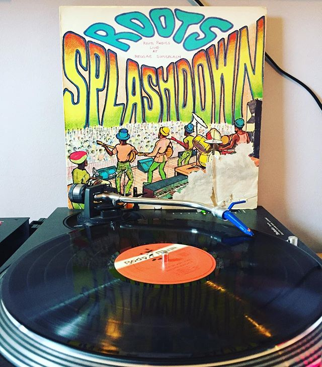 Today on the #turntable - #rootsradics #roots #splashdown . . . . #vynil #vinyl #wakeditown #vinylcollection #vinylrecords #reggae #dub #recordplayer  @flabbaholt_rootsradics