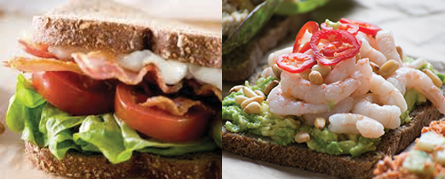 Fiona Kirk Nutrition Food Swap BLT vs Open Sandwich