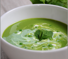 Pea Mint and Lettuce Soup