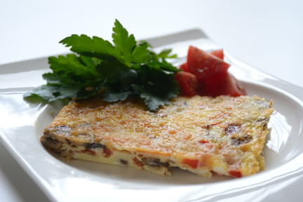mexican-style baked omelette