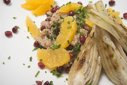 fennel and orange quinoa bowl