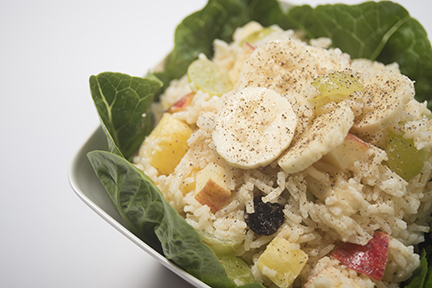 creole banana rice bowl