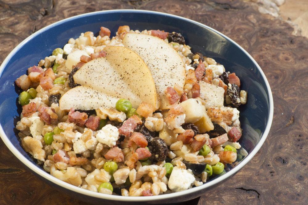 mediterranean chickpea salad bowl